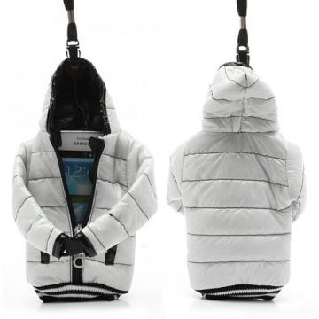 Univerzální pouzdro na mobil - Bílá bunda