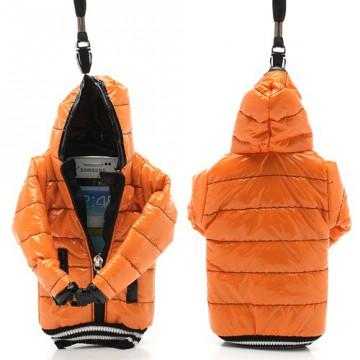 Univerzální pouzdro na mobil - Oranžová bunda