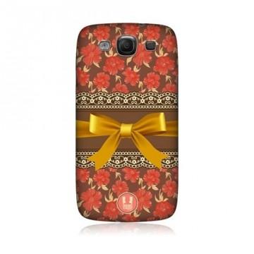 Kryt / Obal - Květy s mašlí - Galaxy S3 i9300