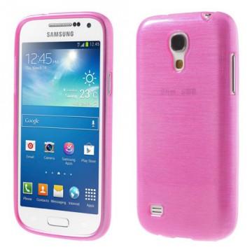 Pouzdro / Obal - Broušený vzor, růžový - Galaxy S4 Mini i9195