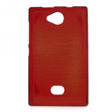 Pouzdro / Obal - Broušený vzor, červený - Asha 503