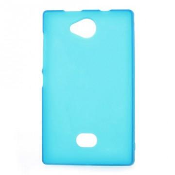 Matné pouzdro - Světle modré - Asha 503