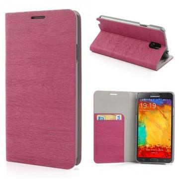 "Pouzdro Wallet ""Stromová kůra"" - Fuchsia - Galaxy Note 3 N9005"