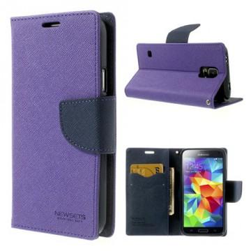 Pouzdro Fancy Diary Galaxy S5 i9600 - fialové