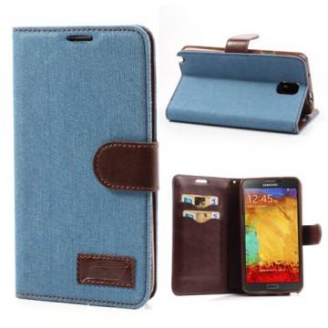 Pouzdro Wallet - Jeans, modré - Galaxy Note 3 N9005