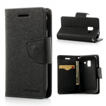 Pouzdro Fancy Diary - Galaxy Ace 2 i8160 - černé