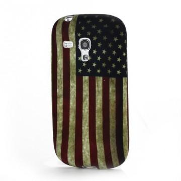 Pouzdro/Obal - Vlajka USA Vintage - Galaxy S3 Mini i8190