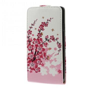Koženkové pouzdro Flip - Květy 01 - Huawei Ascend G700