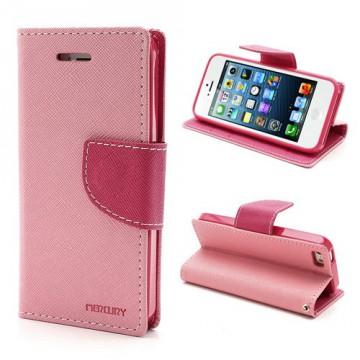 Pouzdro Wallet - iPhone 5/5S - růžové/fuchsia