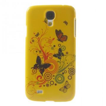 Kryt / Obal třpytivý - Motýli 02 - Galaxy S4 i9500
