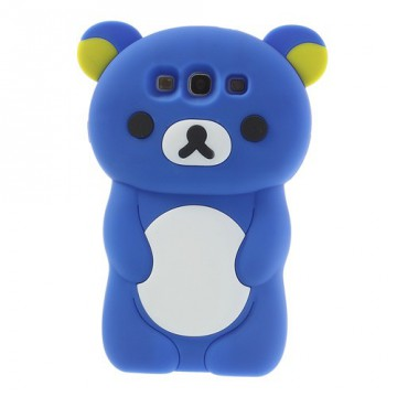 Pouzdro / Obal Silikon - Galaxy S3 i9300 - Modrý medvídek