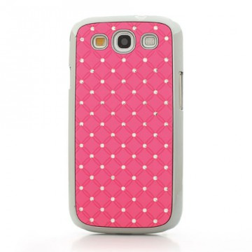 Zadní kryt/Obal Galaxy S3 i9300, i9301 - Růžový s kamínky