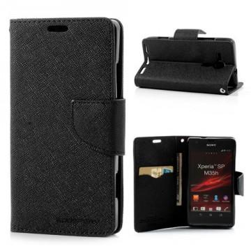 Pouzdro Fancy Diary - Xperia SP - černé