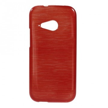 Pouzdro/Obal Broušený vzor, červený - HTC One Mini 2