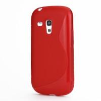 Pouzdro/Obal S Line - Červené - Galaxy S3 Mini i8190
