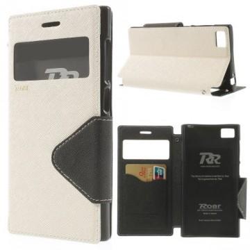 Pouzdro Wallet S-view Xiaomi Mi3 - Bílé/Černé