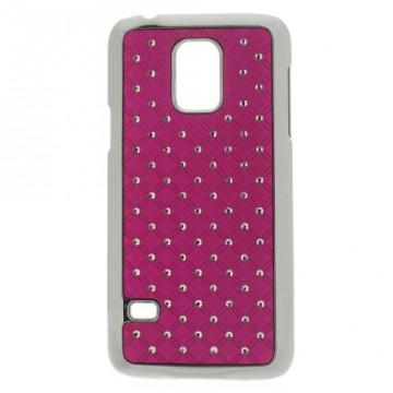 Kryt / Obal Galaxy S5 Mini G800 - Fuchsia s kamínky