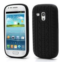 Pouzdro/Obal Silikon - Galaxy S3 Mini i8190 - Černá pneumatika