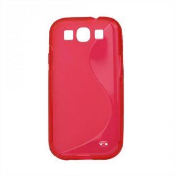 Pouzdro / Obal S-Curve, červený - Galaxy S3 i9300, S3 Neo i9301