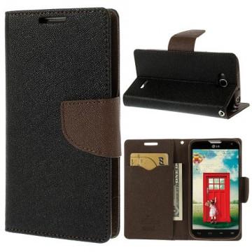 Pouzdro Fancy Diary - LG L90 Dual - černé-hnědé