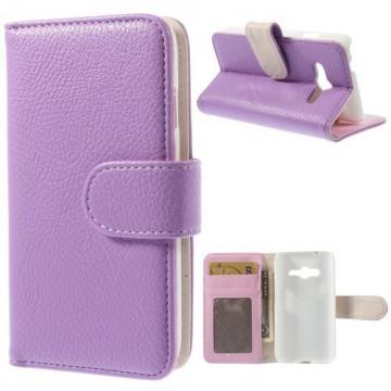 Koženkové pouzdro Wallet - Fiaové - Galaxy G313