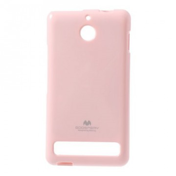 Obal Xperia E1 - Jelly Case - Růžový lesklý třpytivý