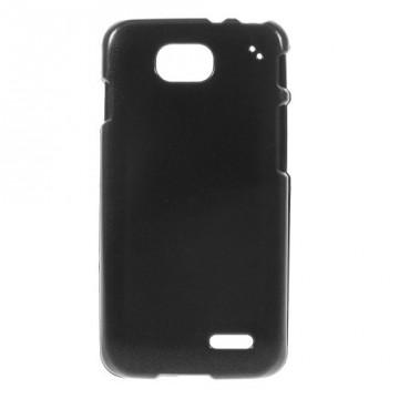Dvoudílný saténový kryt LG L90 - černý