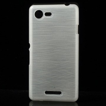 Zadní kryt Broušený vzor, bílý - Sony Xperia E3