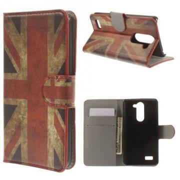 Koženkové pouzdro Wallet LG L Bello - Union Jack Vintage
