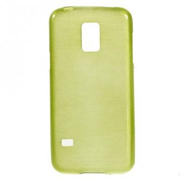 Pouzdro / Obal - Broušený vzor, žlutozelený - Galaxy S5 Mini G800