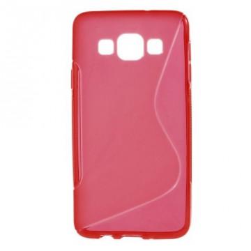 Pouzdro / Obal S-curve - Červené - Galaxy A3