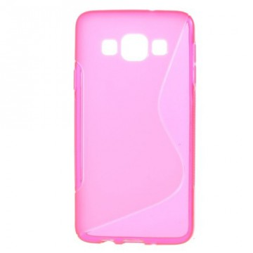 Pouzdro / Obal S-curve - Růžové - Galaxy A3