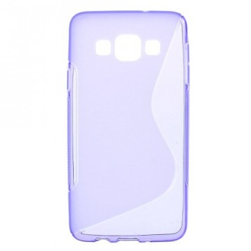 Pouzdro / Obal S-curve - Fialové - Galaxy A3