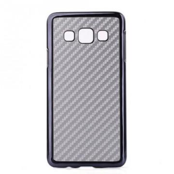 "Kryt / Obal ""Carbon"" - stříbrný - Galaxy A3"