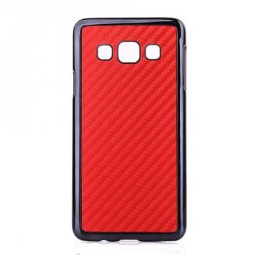 "Kryt / Obal ""Carbon"" - červený - Galaxy A3"