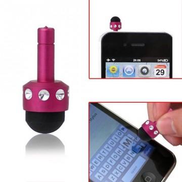 Ozdoba na mobil se stylusem - růžová s kamínky