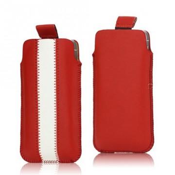 Univerzální pouzdro na mobil - červené-bílé