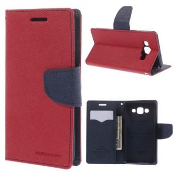 Pouzdro Fancy Diary - červené-tmavě modré - Galaxy A5