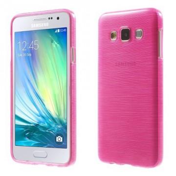 Pouzdro / Obal - Broušený vzor, růžový - Galaxy A3