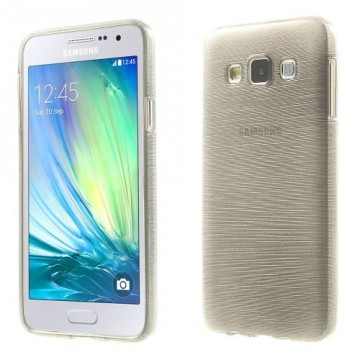 Pouzdro / Obal - Broušený vzor, šedý - Galaxy A3