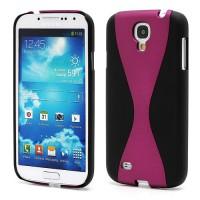 Zadní kryt/Obal Galaxy S4 i9500 - Dvoudílný - Černý/Fuchsia