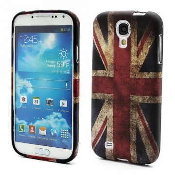 Pouzdro/Obal Galaxy S4 i9500 - Union Jack Vintage