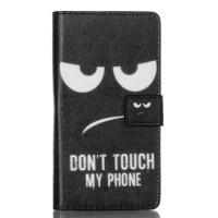 Koženkové pouzdro - Huawei P8 Lite - Don't touch my phone