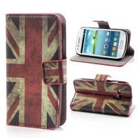 Koženkové pouzdro Wallet - Union Jack Vintage -  Galaxy S3 Mini i8190