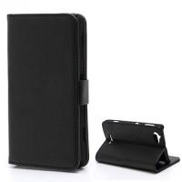 Koženkové pouzdro Wallet - Xperia L - černé