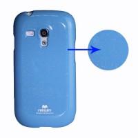 Obal Galaxy S3 Mini i8190 - Světle modrý lesklý třpytivý