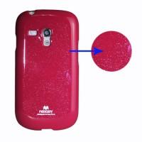 Obal Galaxy S3 Mini i8190 - Fuchsia lesklý třpytivý