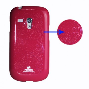 Obal Jelly Case Galaxy S3 Mini i8190 - Fuchsia lesklý třpytivý