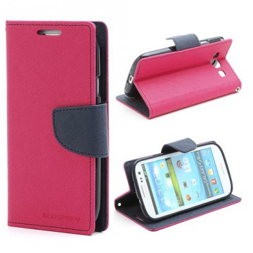 Pouzdro Fancy Diary - Galaxy S3 i9300, i9301 - fuchsia-tmavě modré