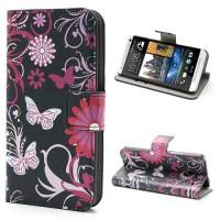 Koženkové pouzdro Květy 01 - HTC One